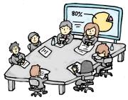 会社の会議-素材イラスト